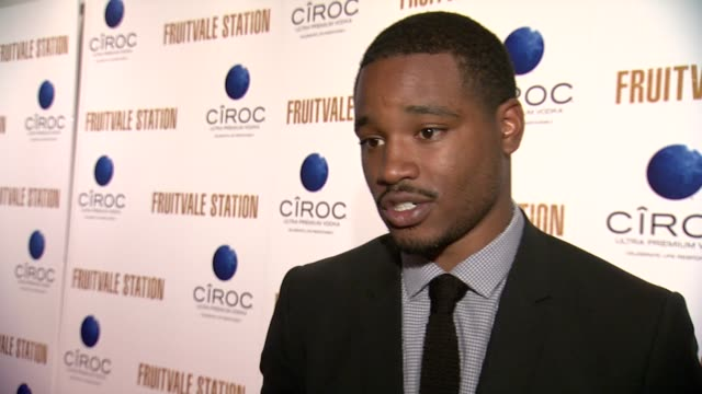 vídeos de stock, filmes e b-roll de ryan coogler on what caught his attention about oscar's tragedy in 2009 and made him write and direct this film. it personaly hit him as they were... - new age