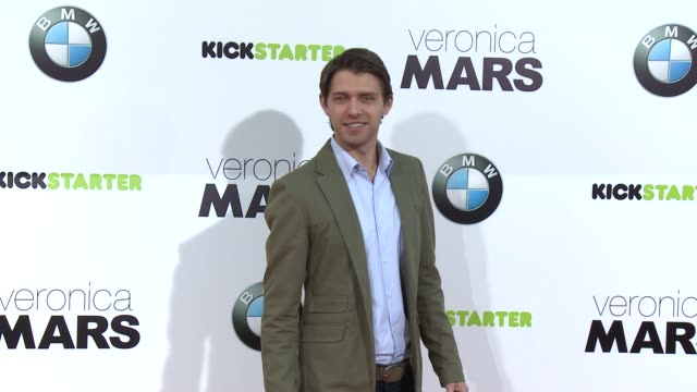 ryan devlin at veronica mars los angeles premiere at tcl chinese theatre on march 12 2014 in hollywood california - mann theaters stock videos & royalty-free footage