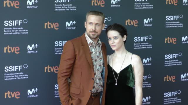 Ryan Gosling and Claire Foy attends 'First Man' premiere during 66th San Sebastian Film Festival on September 24 2018 in San Sebastian Spain