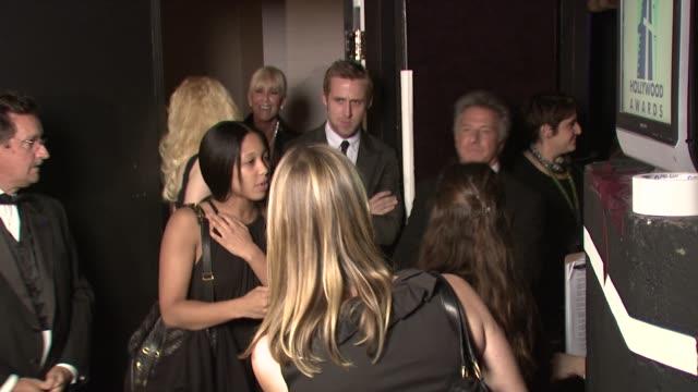 ryan gosling and dustin hoffman at the 12th annual hollywood film festival hollywood awards gala at los angeles ca. - ダスティン・ホフマン点の映像素材/bロール