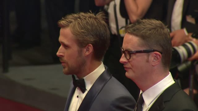 ryan gosling and nicolas winding refn at the 'drive' red carpet arrivals: 64th cannes film festival at cannes . - ryan gosling stock videos & royalty-free footage