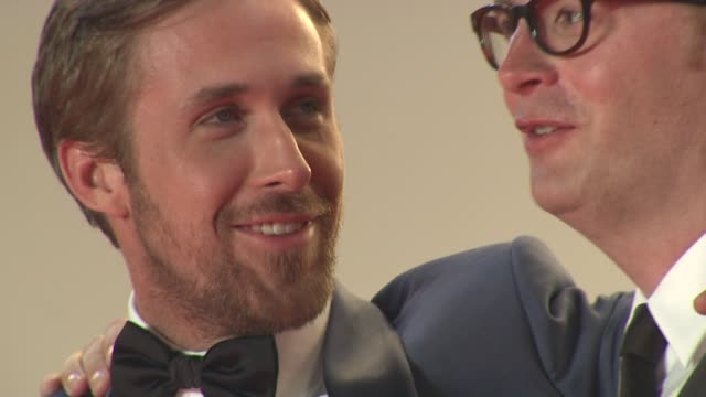 ryan gosling and nicolas winding refn at the 'drive' red carpet arrivals 64th cannes film festival at cannes - ryan gosling stock videos and b-roll footage