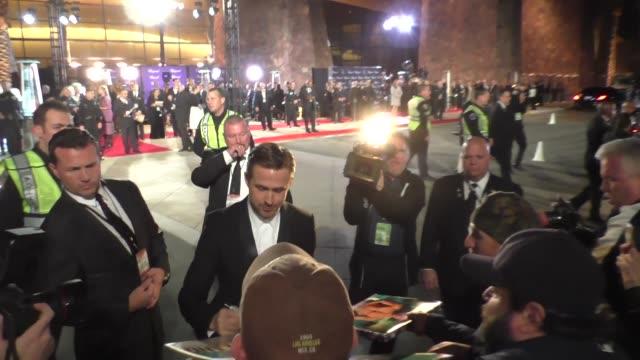 Ryan Gosling arriving to the Palm Springs International Film Festival Film Awards Gala in Palm Springs in Celebrity Sightings in Los Angeles