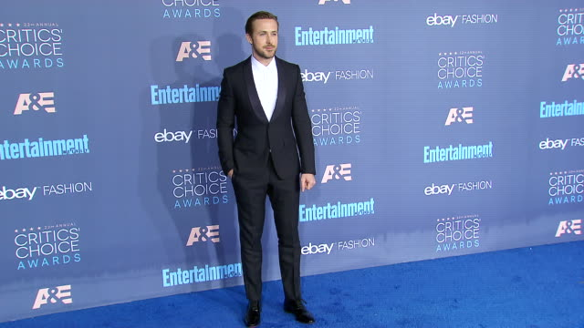 ryan gosling at 22nd annual critics' choice awards in los angeles ca - ryan gosling stock videos and b-roll footage