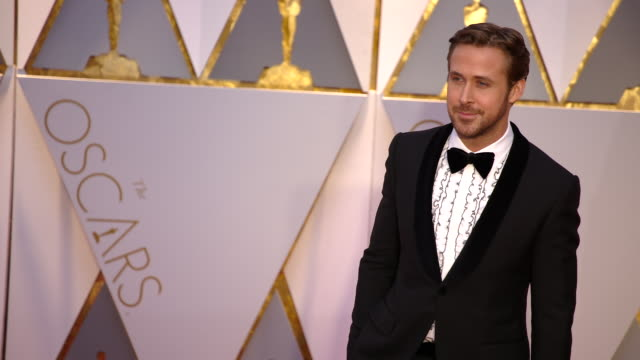 ryan gosling at 89th annual academy awards arrivals at hollywood highland center on february 26 2017 in hollywood california 4k - ryan gosling stock videos and b-roll footage
