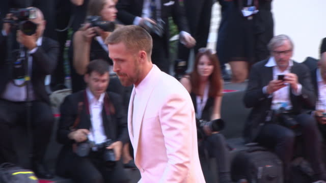 ryan gosling at first man red carpet arrivals opening ceremony and lifetime achievement award to vanessa redgrave 75th venice film festival on august... - ryan gosling stock videos and b-roll footage
