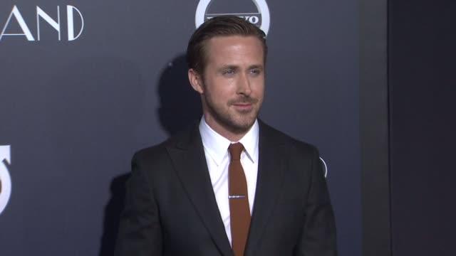 "ryan gosling at ""la la land"" los angeles special screening on december 06, 2016 in los angeles, california. - ryan gosling stock videos & royalty-free footage"