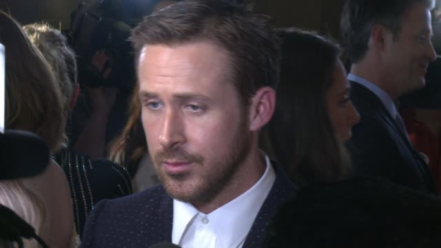 ryan gosling at princess of wales theatre on september 12 2016 in toronto canada - toronto international film festival stock videos and b-roll footage