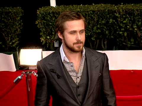 ryan gosling at the 14th annual screen actors guild awards at los angeles ca. - ryan gosling stock videos & royalty-free footage