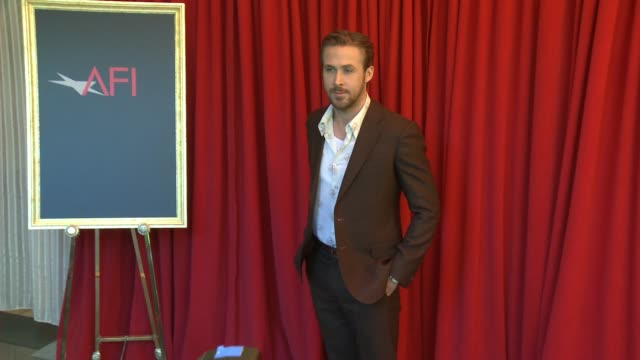 ryan gosling at the 16th annual afi awards at the four seasons hotel los angeles at beverly hills on january 08, 2016 in los angeles, california. - gosling stock videos & royalty-free footage