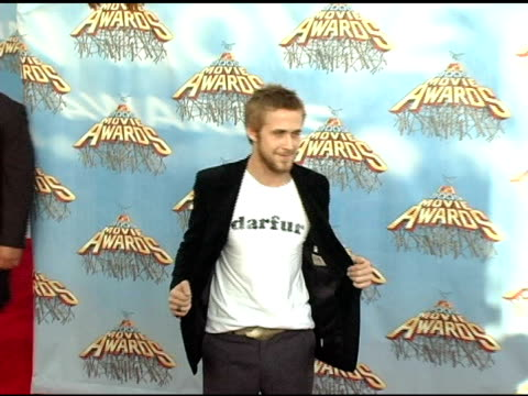 ryan gosling at the 2005 mtv movie awards arrivals at the shrine auditorium in los angeles california on june 4 2005 - ryan gosling stock videos and b-roll footage