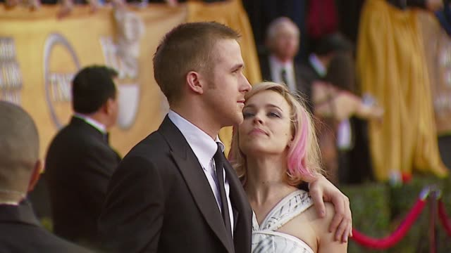 ryan gosling at the 2007 screen actors guild sag awards at the shrine auditorium in los angeles california on january 28 2007 - ryan gosling stock videos and b-roll footage