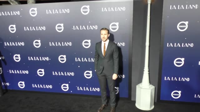 "ryan gosling at the ""la la land"" los angeles special screening on december 06, 2016 in los angeles, california. - ryan gosling stock videos & royalty-free footage"