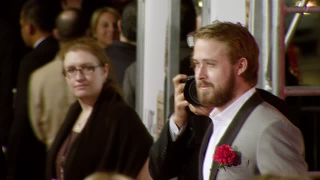 ryan gosling at the 'lars and the real girl' los angeles premiere at academy of motion picture arts and sciences in beverly hills, california on... - academy of motion picture arts and sciences stock-videos und b-roll-filmmaterial