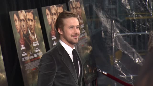 """ryan gosling at """"the place beyond the pines"""" new york premiere presented by focus features at landmark sunshine cinema on march 28, 2013 in new york,... - ryan gosling stock videos & royalty-free footage"""