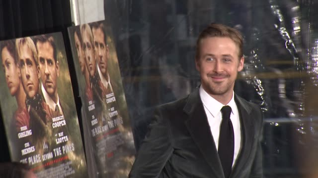 ryan gosling at the place beyond the pines new york premiere presented by focus features at landmark sunshine cinema on march 28 2013 in new york new... - ryan gosling stock videos and b-roll footage