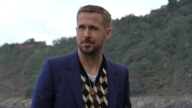 ryan gosling attends the 'firt man' photocall during the 66th san sebastian film festival, in san sebastian, spain, on september 24, 2018. - ryan gosling stock videos & royalty-free footage