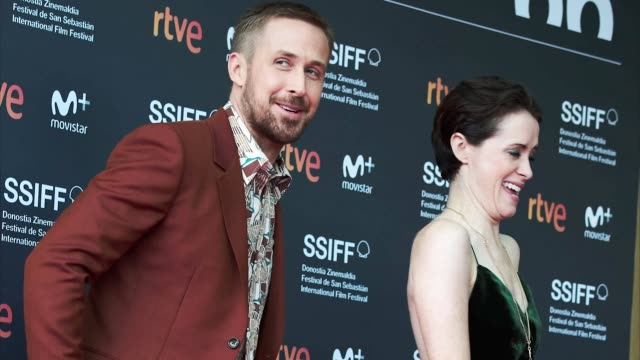 GIF Ryan Gosling Claire Foy during 'First Man' Premiere at 66th San Sebastian Film Festival on September 20 2018 in San Sebastian Spain