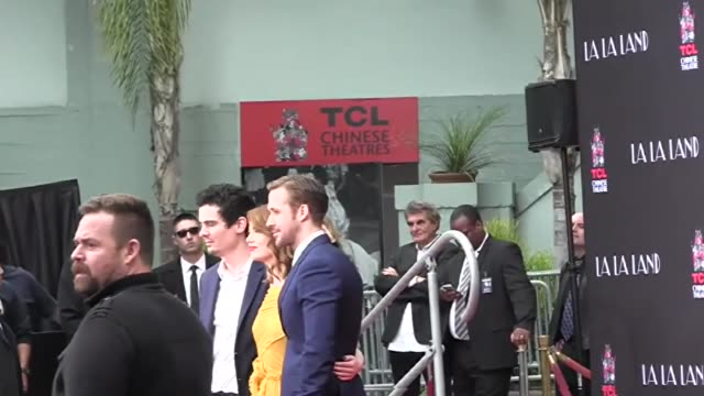 Ryan Gosling Emma Stone Hand And Footprint Ceremony at TCL Chinese Theatre in Hollywood in Celebrity Sightings in Los Angeles