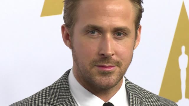 ryan gosling is nominated for best actor for his role in hit movie la la land at this year's academy awards - ryan gosling stock videos and b-roll footage