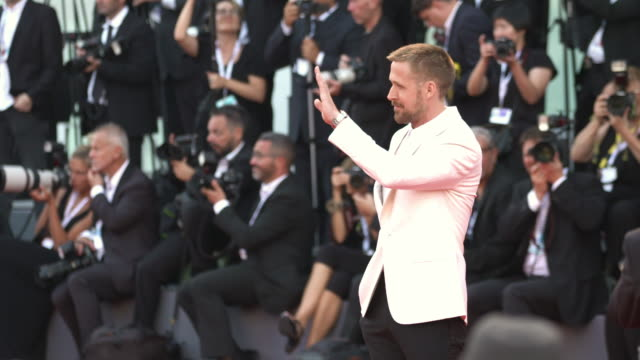 ryan gosling on first man red carpet arrivals opening ceremony and lifetime achievement award to vanessa redgrave 75th venice film festivalon august... - ryan gosling stock videos and b-roll footage