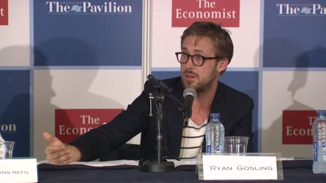 ryan gosling on how important managers and agents are his experiences when he was 17 at the ryan gosling press conference 64th cannes film festival... - ryan gosling stock videos and b-roll footage