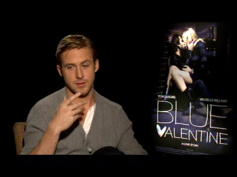 ryan gosling on the movie's nc17 rating on how it will be a limited release doesn't think it's fair at the 'blue valentine' junket at new york ny - ryan gosling stock videos and b-roll footage