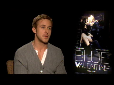 ryan gosling on the questions that the film leaves unanswered at the 'blue valentine' junket at new york ny - ryan gosling stock videos and b-roll footage