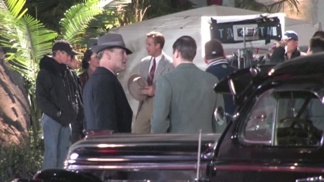 ryan gosling on the set of 'gangster squad' in hollywood on 12/09/11 - gosling stock videos & royalty-free footage