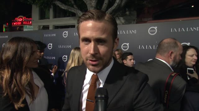 interview ryan gosling on what he loves about watching emma's performance on what kind of set damien creates that allows the actors to collaborate... - ryan gosling stock videos and b-roll footage
