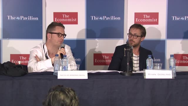 ryan gosling on working with nicolas winding refn at the ryan gosling press conference 64th cannes film festival at cannes - ryan gosling stock videos and b-roll footage