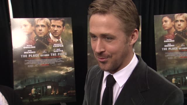 ryan gosling on working with the director to create his motorcycle robber character. on working with derek cianfrance on blue valentine. on what this... - ryan gosling stock videos & royalty-free footage