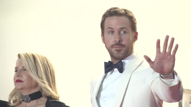 Ryan Gosling Russell Crowe Matt Bomer Angourie Rice Murielle Telio Shane Black Joel Silver Karyn Fields at 'The Nice Guys' Red Carpet at Palais des...