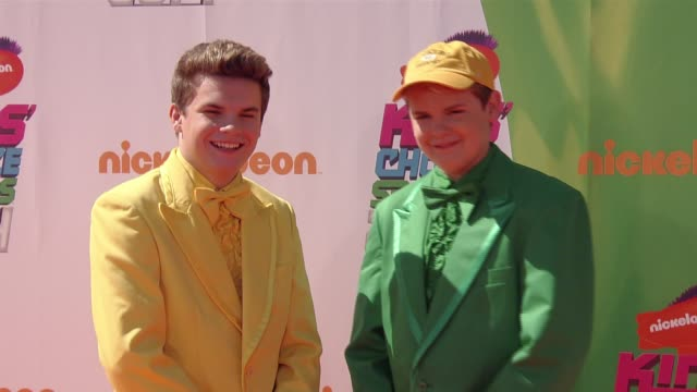 ryan hartwig and reese hartwig nickelodeon kids' choice sports awards 2014 at pauley pavilion on july 17 2014 in los angeles california - nickelodeon stock videos & royalty-free footage