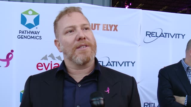 vídeos y material grabado en eventos de stock de ryan kavanaugh on supporting the cause at pathway to the cure for breast cancer a fundraiser benefiting susan g komen at santa monica airport on june... - the cure