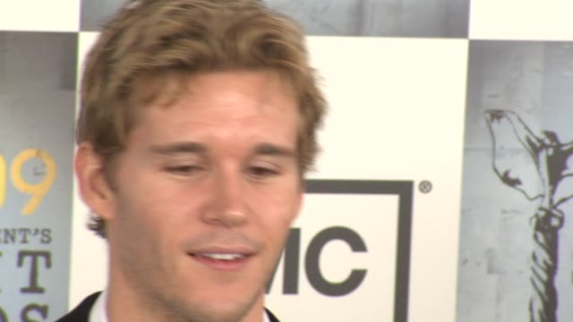 ryan kwanten at the film independent's 2009 spirit awards arrivals part 3 at los angeles ca. - independent feature project stock videos & royalty-free footage