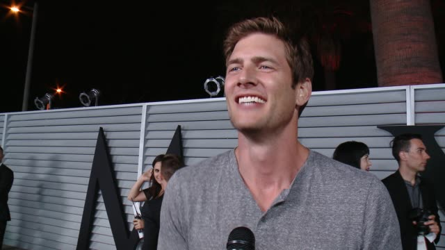 interview ryan mcpartlin on being at the event and on his personal hot 100 at the maxim hot 100 and relaunch party at pacific design center on june... - pacific design center stock videos and b-roll footage