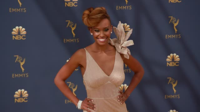 vídeos de stock, filmes e b-roll de ryan michelle bathe at the 70th emmy awards arrivals at microsoft theater on september 17 2018 in los angeles california - 70th annual primetime emmy awards