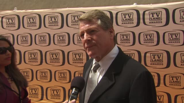 ryan o'neal on being at the tv land awards on if he thinks farrah fawcett would be pleased that 'charlie's angels' is being honored tonight and on... - farrah fawcett stock videos and b-roll footage