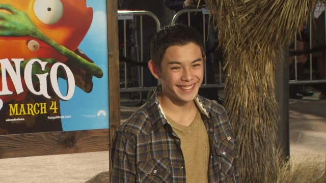 ryan potter at the 'rango' premiere at westwood ca - westwood stock videos & royalty-free footage
