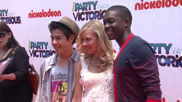Ryan Potter Carlos Knight Glenn McCuen at the Nickelodeon's 'iParty With Victorious' Premiere at West Hollywood CA