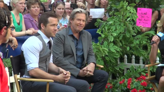 Ryan Reynolds and Jeff Bridges at the 'Good Morning America' studio in New York NY on 7/18/13