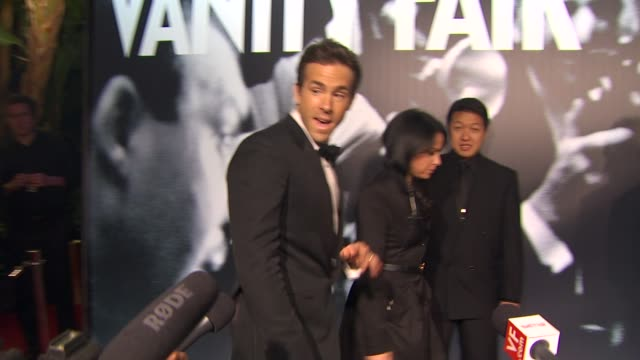 ryan reynolds at the 2010 vanity fair oscar party hosted by graydon carter at west hollywood ca - graydon carter stock videos and b-roll footage
