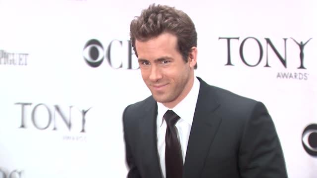 Ryan Reynolds at the 64th Annual Tony Awards at New York NY