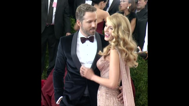 Ryan Reynolds Blake Lively at 'Charles James Beyond Fashion' Costume Institute Gala Arrivals