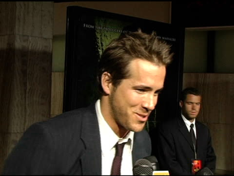 ryan reynolds on being compared to jack nicholson in 'the shining', doing a darker versus comedic role, and on why remakes of classic horror films... - jack nicholson stock videos & royalty-free footage