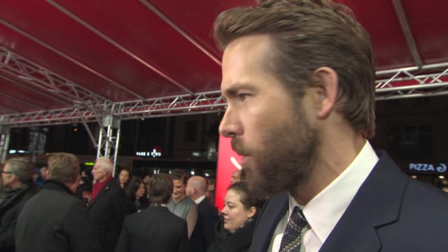 INTERVIEW Ryan Reynolds on working with Dame Helen Mirren what it means bring the film in Berlin Berlin being colder than Sundance not being effected...