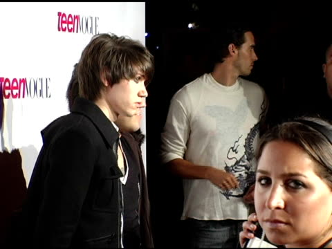 ryan ross and pete wentz at the teen vogue young hollywood issue party arrivals at the sunset tower hotel in hollywood california on september 20 2006 - 2006 stock videos & royalty-free footage