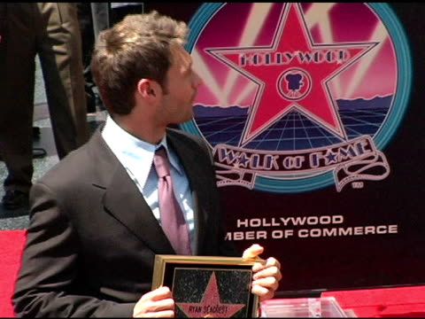 ryan seacrest and paula abdul at the dedication of ryan seacrest's star on the hollywood walk of fame at hollywood and highland in hollywood... - ryan seacrest stock-videos und b-roll-filmmaterial