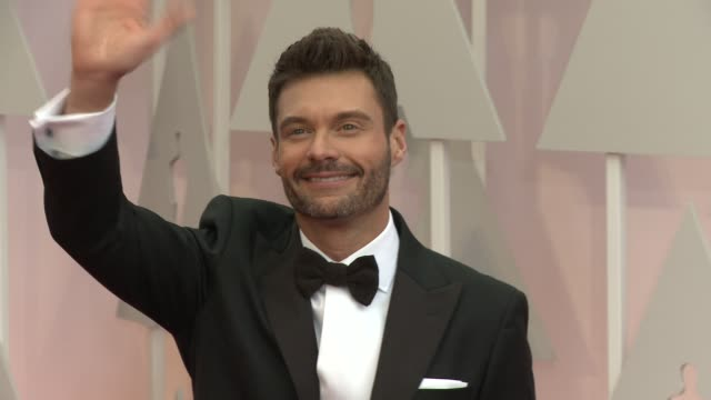ryan seacrest at 87th annual academy awards arrivals at dolby theatre on february 22 2015 in hollywood california - ryan seacrest stock-videos und b-roll-filmmaterial